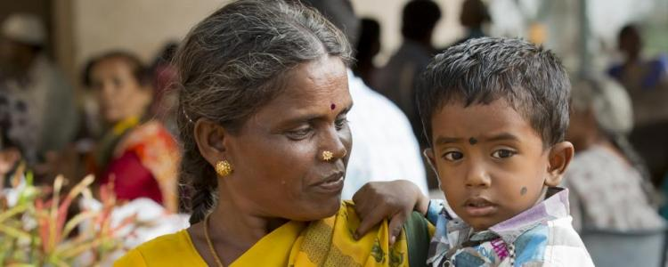 Indian mother and child