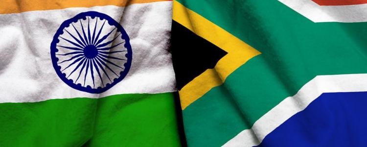 India and South Africa National Flags